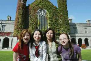 International undergraduate students, NUI Galway