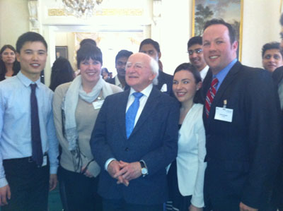 International Student Ambassadors meet President Micael D Higgins
